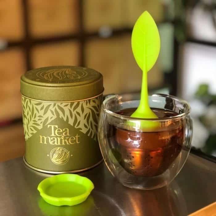 Infusor de té en forma de hoja para preparar tus tés - Tea Market Colombia