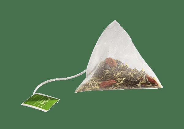 como preparar el té - bolsa piramidal