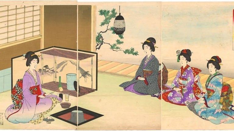historia del té - japón