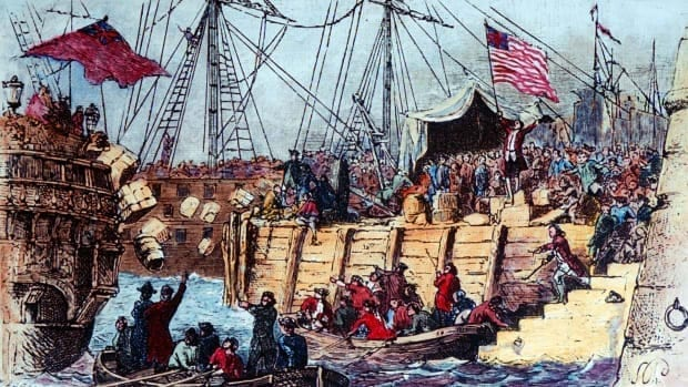 historia del té - boston tea party