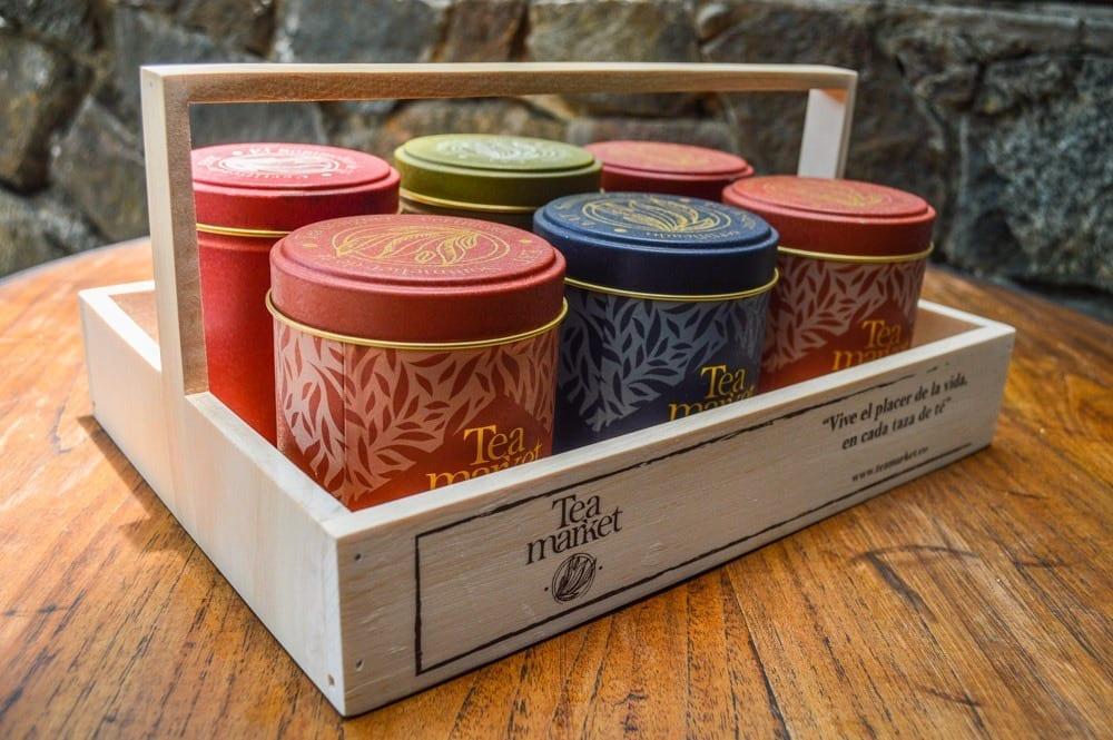 caja tea lover con variedades de té