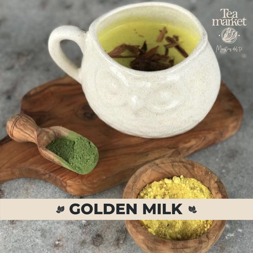 Golden Milk receta con té Matcha - Tea Market