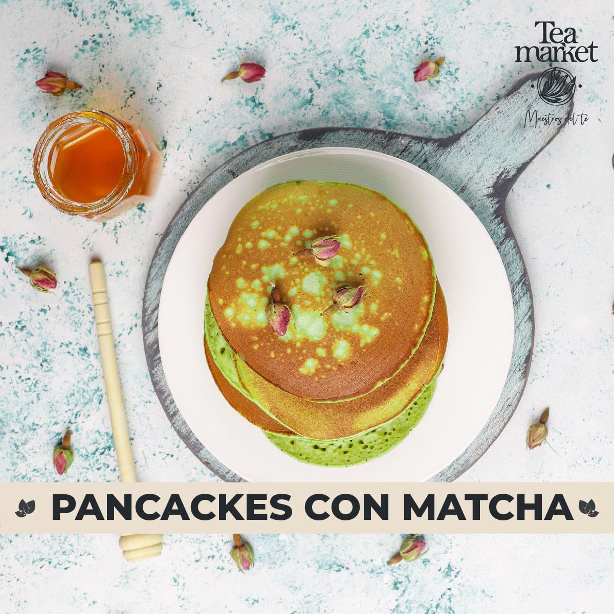 Receta - Pancakes de Matcha - Tea Market