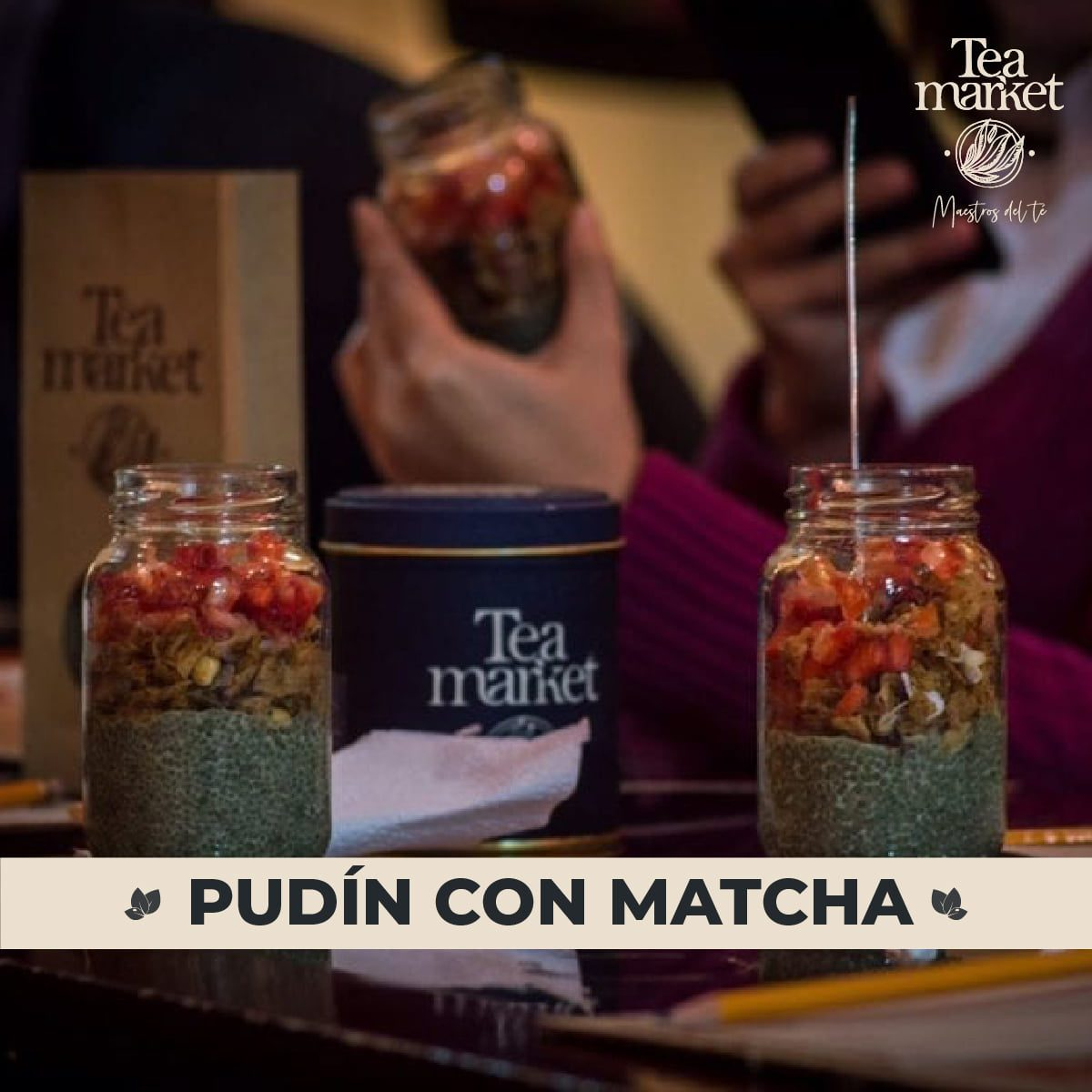 Receta - Pudin con Matcha - Tea Market